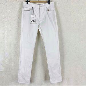 NWT ZARA Skinny-fit White 5-pocket Denim Jeans 30